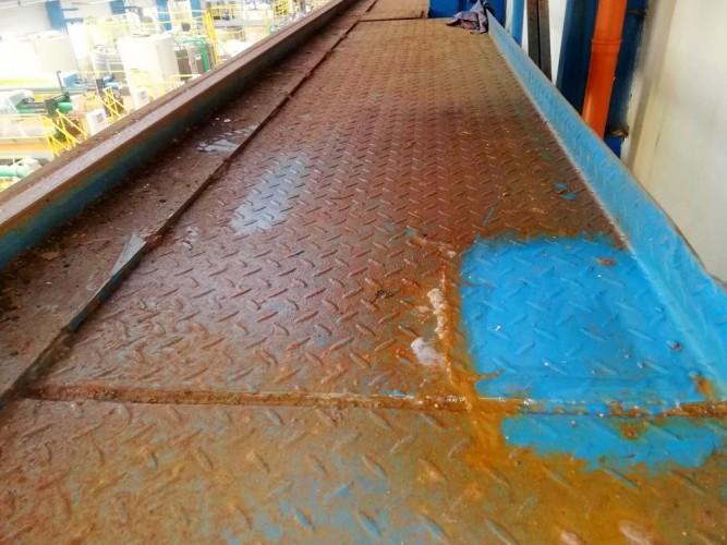 čištění jeřábové dráhy
