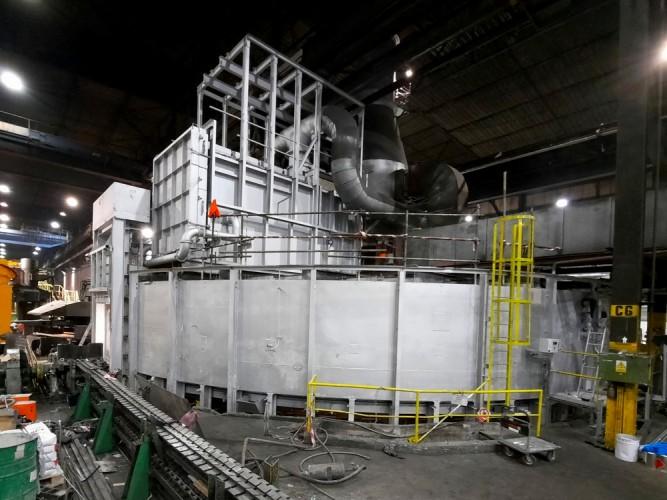 karuselová pec po kompletní rekonstrukci povrchu žáruvzdornou barvou